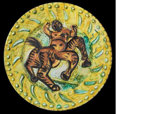 Pablo Picasso (1881-1973) Centaure 42cm (16 9/16in) diameter