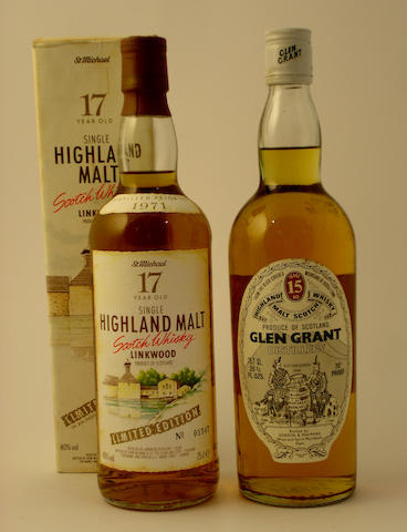 Linkwood-17 year old-Pre 1971<BR /> Glen Grant-15 year old
