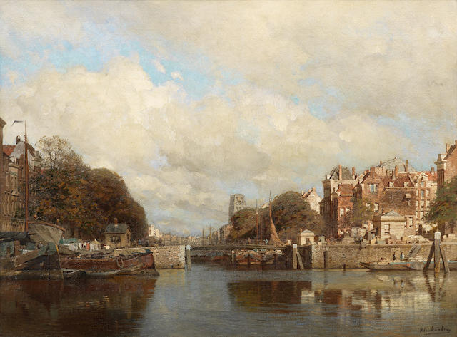 Johannes Christiaan Karel Klinkenberg (Dutch, 1852-1924) Rotterdam, with the Laurenskerk in the background