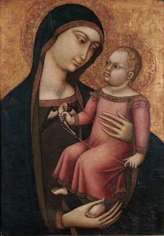 Luca di Tomme (active Sienna, circa 1330-1389) The Madonna and Child