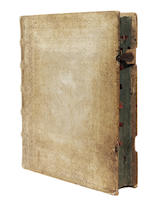 "ILLUMINATED CHOIRBOOK Manuscript choirbook, opening with the ""Tantum Ergo"", [late seventeenth century]; and another (2)"