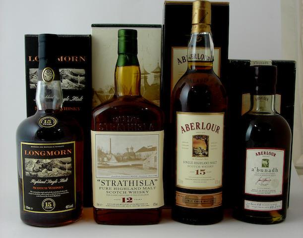 Longmorn-15 year old (2) <BR /> Strathisla-12 year old<BR /> Aberlour-15 year old<BR /> Aberlour a'bunadh