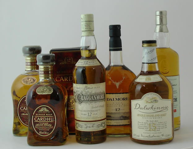Cardhu-12 year old (2) <BR /> Cragganmore-12 year old<BR /> Dalmore-12 year old<BR /> Dalwhinnie-15 year old<BR /> Benriach-10 year old