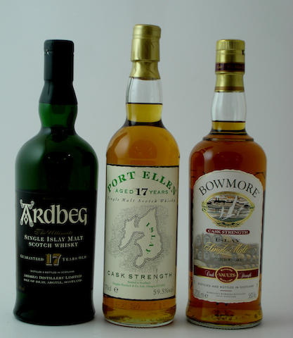 Ardbeg-17 year old<BR /> Port Ellen-17 year old<BR /> Bowmore Cask Strength