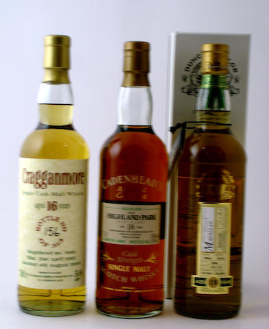 Cragganmore-16 year old-1993<BR /> Highland Park-18 year old-1976<BR /> Macallan-18 year old-1991