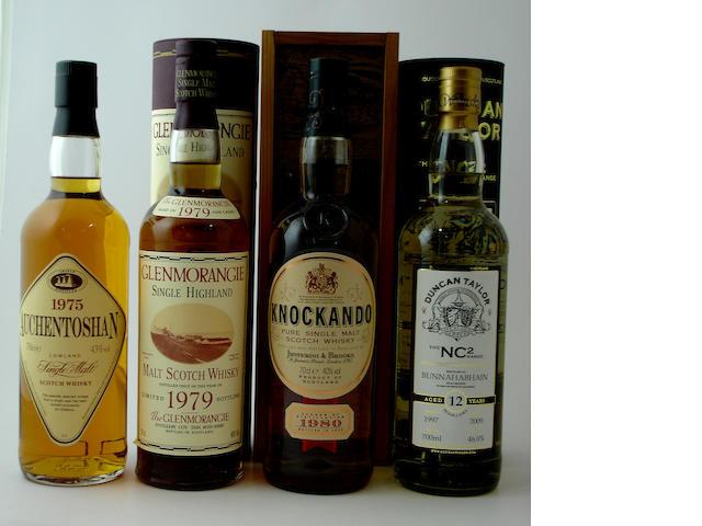 Auchentoshan-1975<BR /> Glenmorangie-1979<BR /> Knockando-1980<BR /> Bunnahabhain-12 year old-1997
