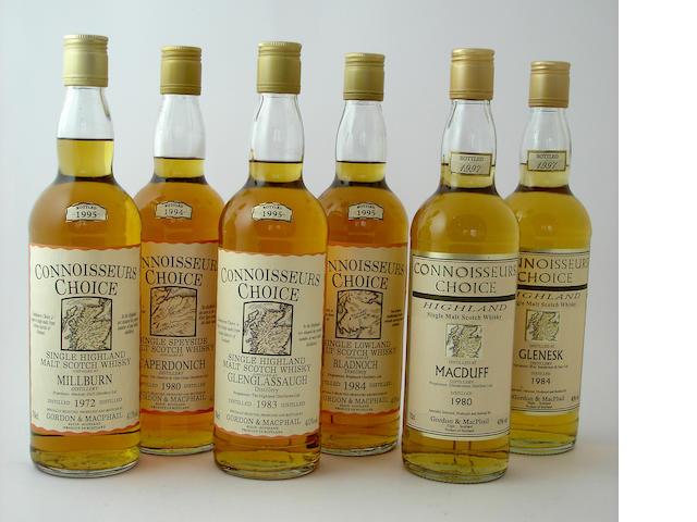 Millburn-1972<BR /> Caperdonich-1980<BR /> Glenglassaigh-1983<BR /> Bladnoch-1984<BR /> MacDuff-1980<BR /> Glenesk-1984