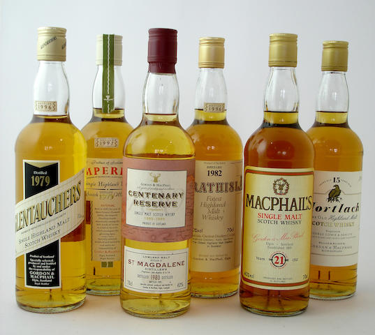 Glentauchers-1979<BR /> Imperial-1979<BR /> St.Magdalene Centenary Reserve-1980<BR /> Strathisla-1982<BR /> MacPhail's-21 year old<BR /> Mortlach-15 year old