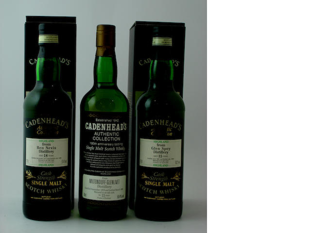 Ben Nevis-18 year-old-1977<BR /> Miltonduff-Glenlivet-13 year old-1978<BR /> Glen Spey-15 year old-1981