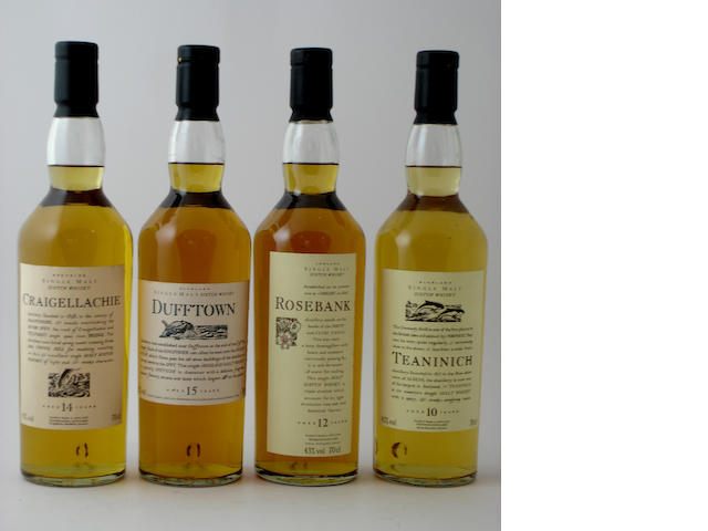 Craigellachie-14 year old<BR /> Dufftown-14 year old<BR /> Rosebank-12 year old<BR /> Teaninich-10 year old
