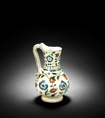 An Iznik pottery Jug Turkey, 17th Century