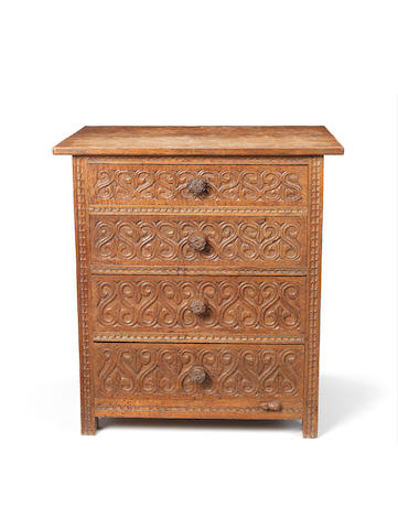 Mouseman chest of drawers