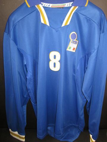 1997 Roberto Di Matteo match worn Italy shirt