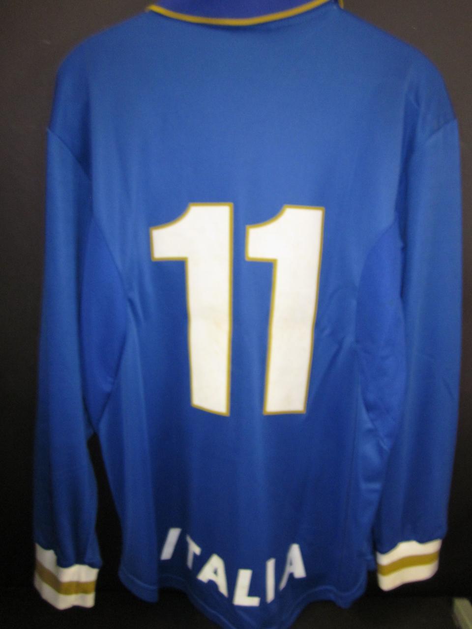 1997 Gianfranco Zola match worn Italy shirt