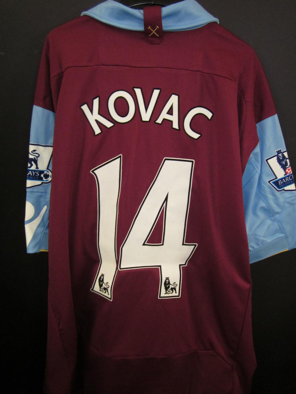 2010 Radoslav Kovac match worn West Ham shirt