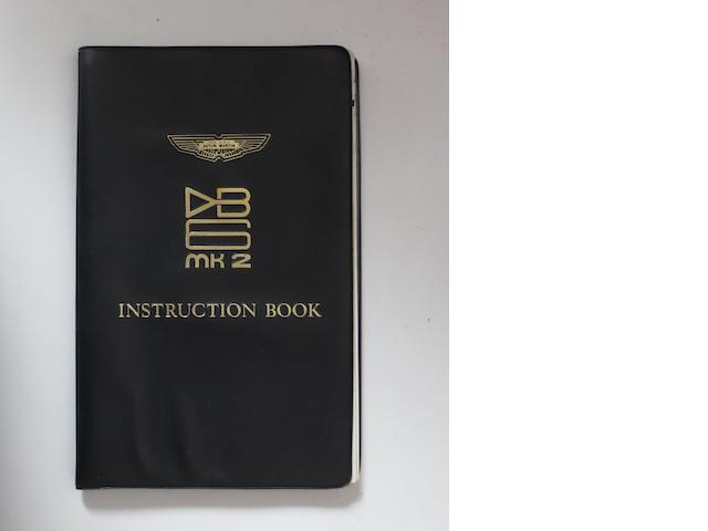 An Aston Martin DB6 Mk 2 saloon and Volante Convertible Instruction Book,