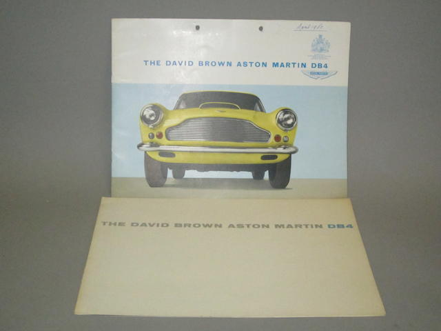 Two Aston Martin DB4 sales brochures,