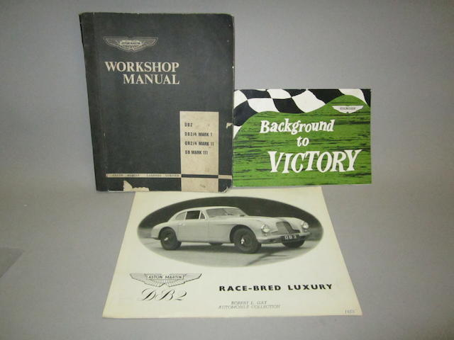 'Race Bred Luxury' an Aston Martin DB2 sales brochure,
