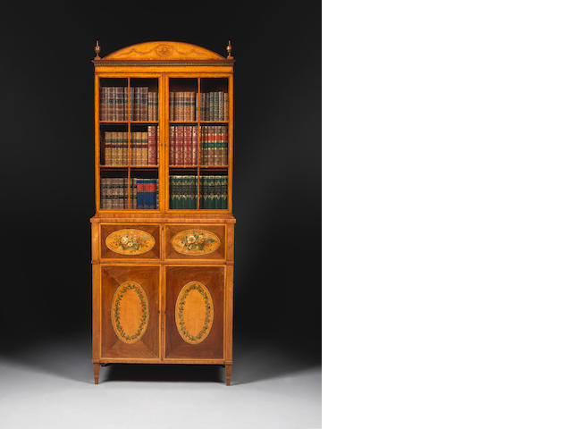 A good George III rosewood secretaire bookcase, circa 1790, attributed to Seddon (see Sotheby's sale Mr Fox offered with an estimate of £80,000-100,000)
