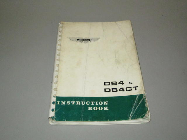An Aston Martin DB4 & DB4GT Instruction Book, 1963,