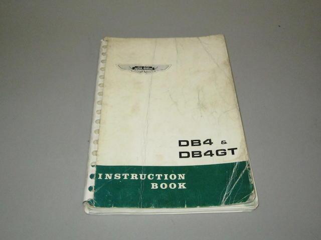 An Aston Martin DB4 & DB4GT Instruction Book, 1963,