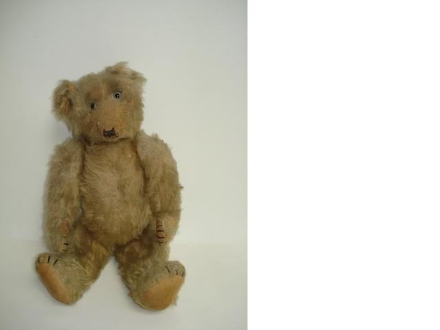 Brown mohair Teddy bear, English 1920s