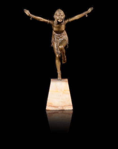 Demetre Chiparus 'Chain Dancer' a Gilt-Bronze Sculpture, circa 1925