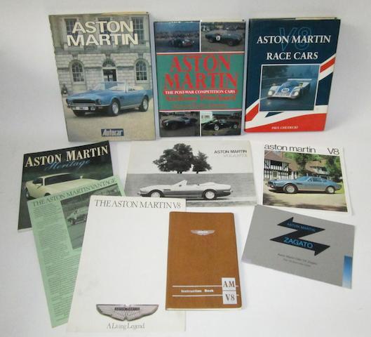 Aston Martin V8 literature,