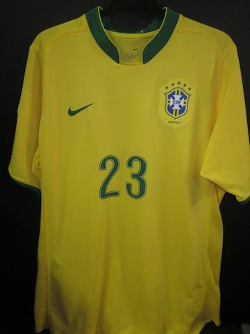 2006 World Cup Robinho Brazil shirt
