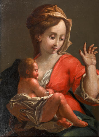 English School, 18th Century The Madonna and Child
