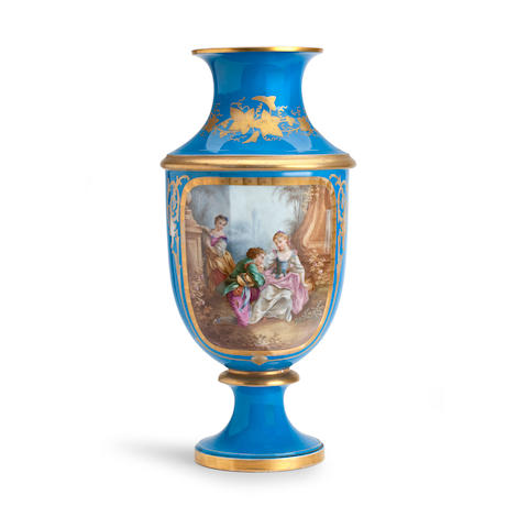 A large Sèvres style vase 19th century