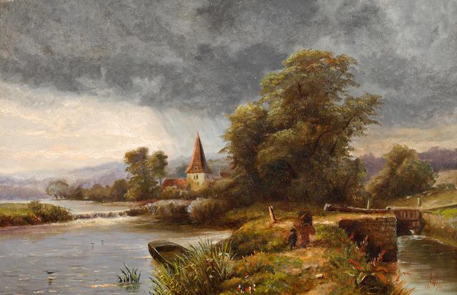 George Vicat Cole, RA (British, 1833-1893) The Lock
