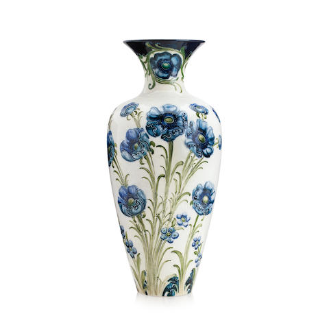 A William Moorcroft Macintyre 'Poppy' design vase Circa 1902