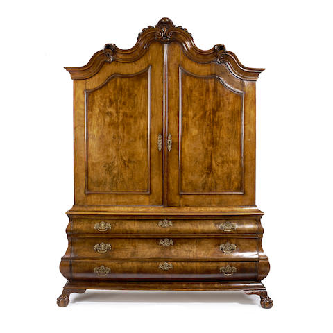 A Dutch 18th century walnut armoire