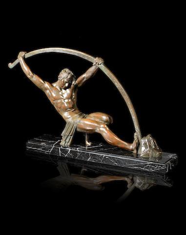 Demetre Chiparus (1886-1947) 'The Bronze Age' a Rare Model Cast in Bronze, circa 1925