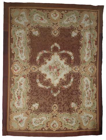 A large 19th century Aubusson carpet, France,