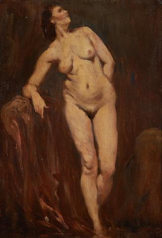 Sir Augustus Edwin John (British, 1878-1961) Standing female nude
