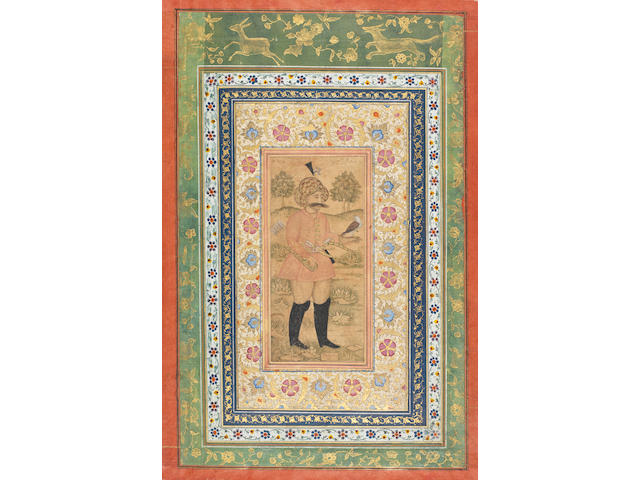 Two Mughal miniatures in Persian style: 13/4/10, lot 200 W/D (2)