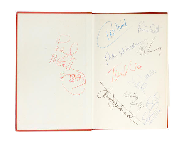 Paul McCartney and others: an autographed copy of 'The Popular Voice' by Derek Jewell (1927-1985),