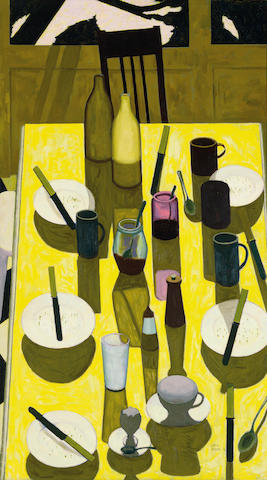 John Brack (1920-1999) The breakfast table 1958