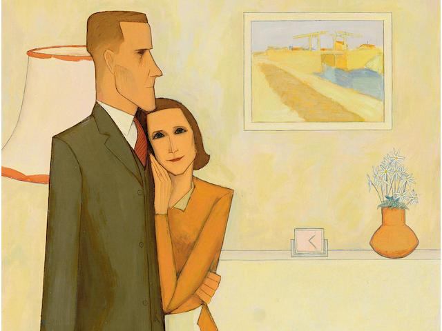 John Brack (1920-1999) The new house 1953