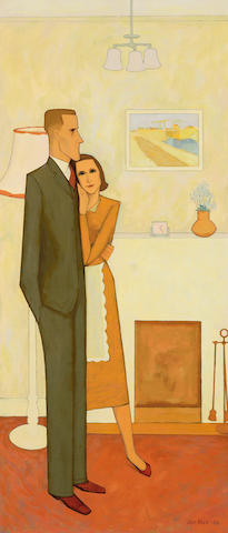 John Brack (1920-1999) The new house 1953