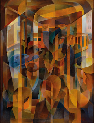 Frank Hinder (1906-1992) Tram kaleidoscope 1948