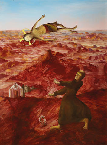 Sidney Nolan (1917-1992) St Francis receiving the stigmata 1951