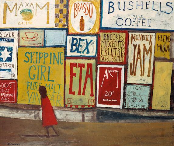 Charles Blackman (born 1928) Hoardings 1954
