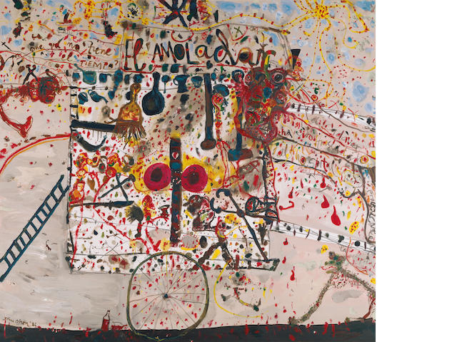 John Olsen (born 1928) El amoladar (The tinker) 1986