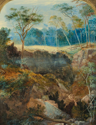 George Rowe (1796-1864) Deep Gully Mine, near Bendigo c.1857