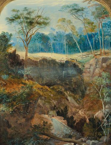 George Rowe (1796-1864) Deep Gully Mine, near Bendigo c.1857