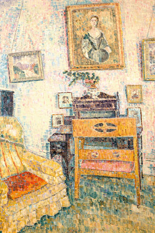 Grace Cossington Smith (1892-1984) Portrait over the writing desk 1961