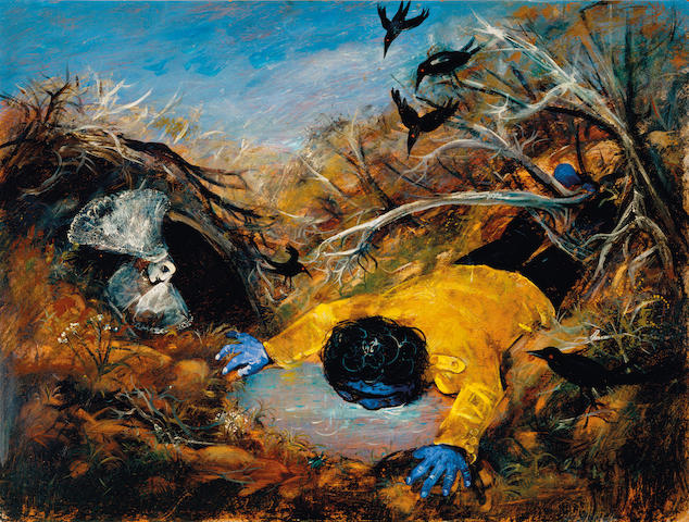 Arthur Boyd (1920-1999) Bridegroom drinking from a creek II 1959